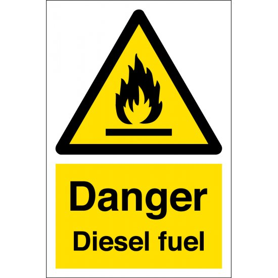 Diesel Fuel Warning Signs