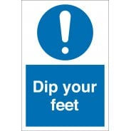 Dip Your Feet Signs