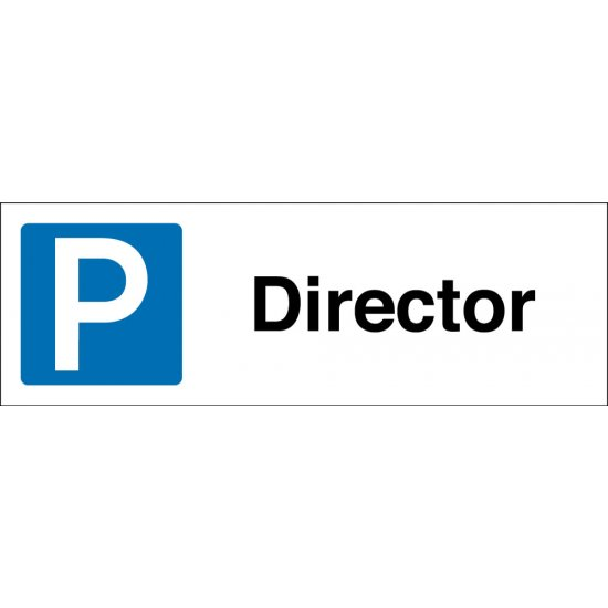 Director Parking Signs