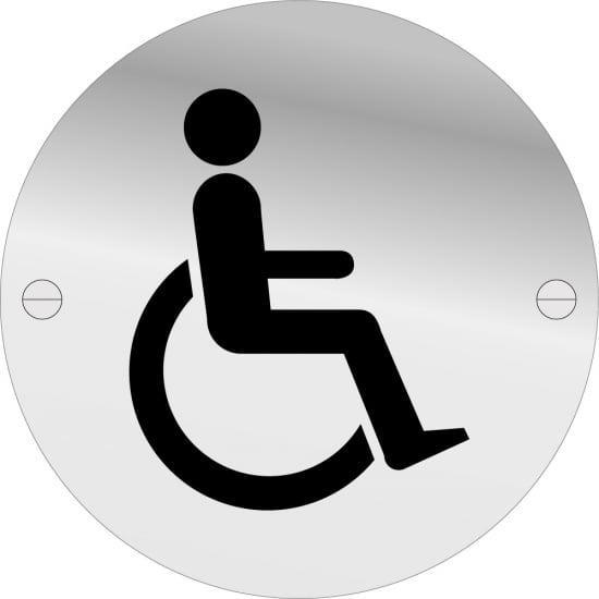 Disabled Toilet Door Signs