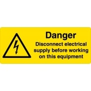 Disconnect Electrical Supply Labels