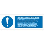 Dishwashing Machine Signs