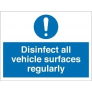 Disinfect All Vehicle Surfaces Regularly Signs