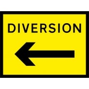 Diversion Arrow Left Signs