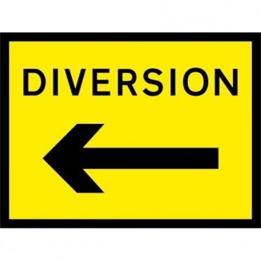 Diversion Arrow Left Signs