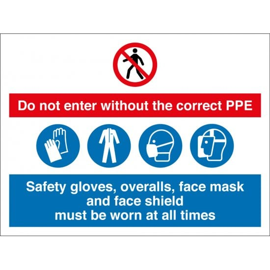 Do Not Enter Without The Correct PPE Signs