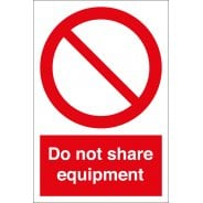 Do Not Share Equipment Signs