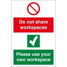 Do Not Share Workspaces Signs