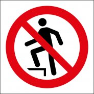 Do Not Step On Surface Signs