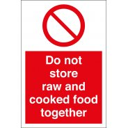 Do Not Store Raw And Cooked Food Together Signs