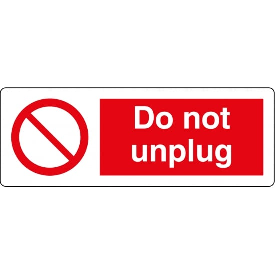 Do Not Unplug Labels