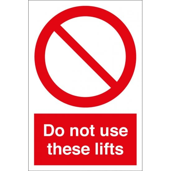 Do Not Use These Lifts Signs