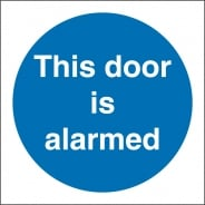 Door Alarmed Signs