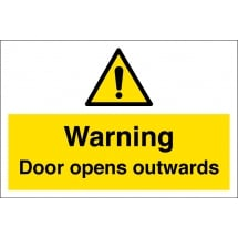 Door Opens Outwards Signs