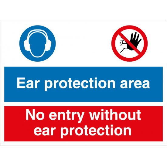 Ear Protection Area No Entry Signs