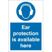 Ear Protection Is Available Here Signs
