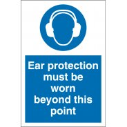 Ear Protection Must Be Worn Beyond This Point Signs