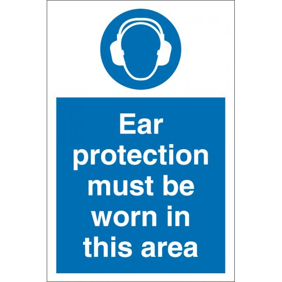 Ear Protection Must Be Worn In This Area Signs
