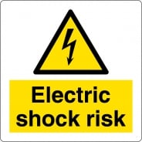 Electric Shock Risk Labels