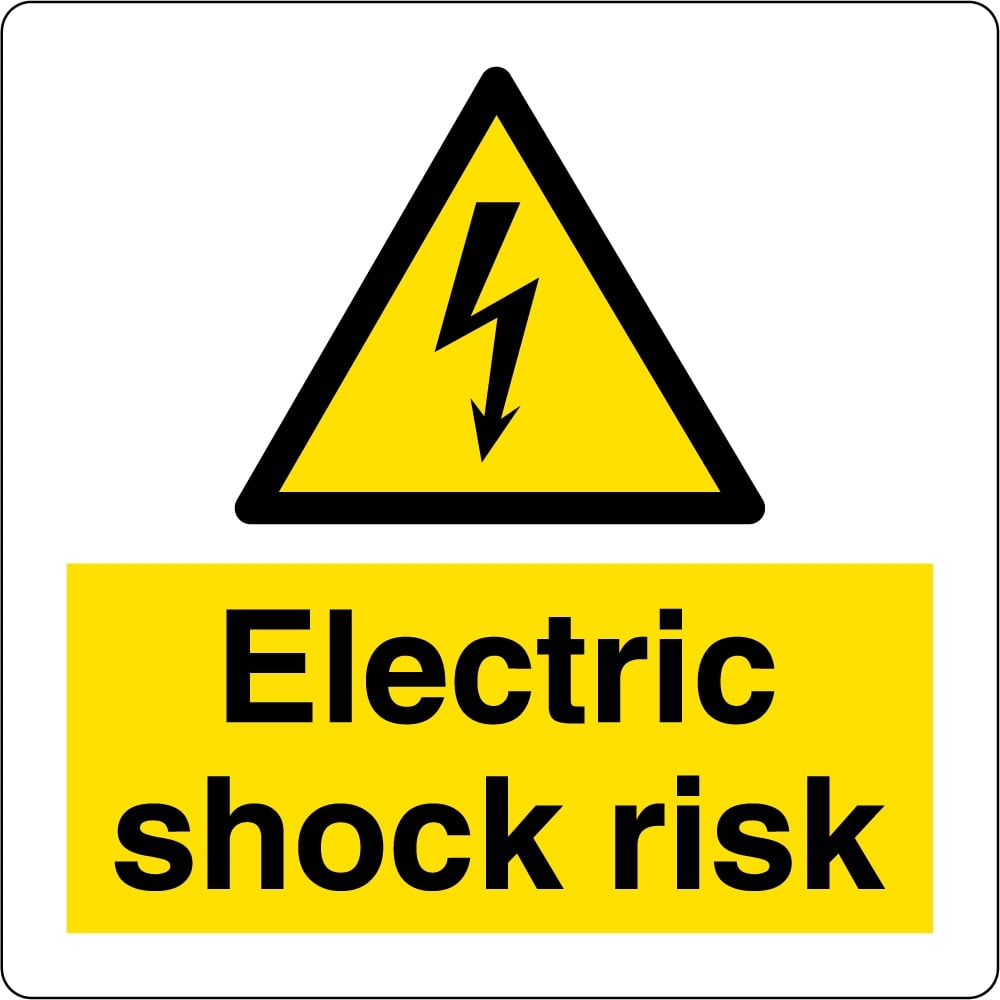 Electric Shock Risk Labels From Key Signs Uk