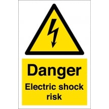 Electric Shock Risk Signs