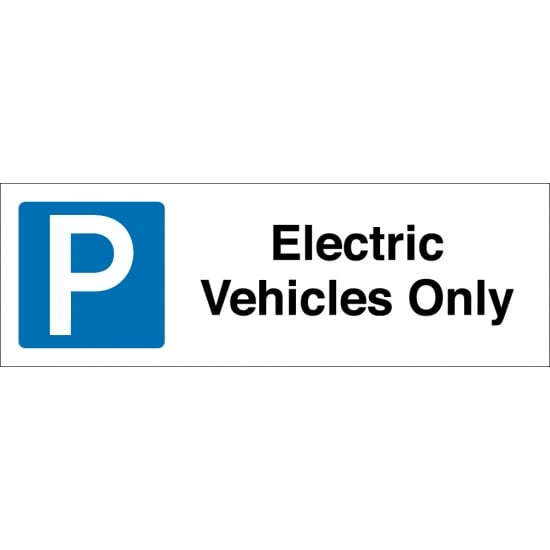 Electric Vehicles Only Parking Signs