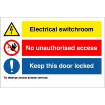 Electrical Switchroom Access Signs