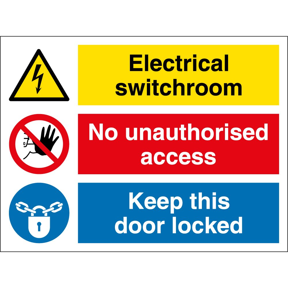 Electrical Switchroom Signs From Key Uk Switch Picture