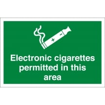 Electronic Cigarettes Permitted In This Area Signs