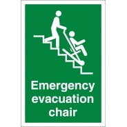 Emergency Evacuation Chair Signs
