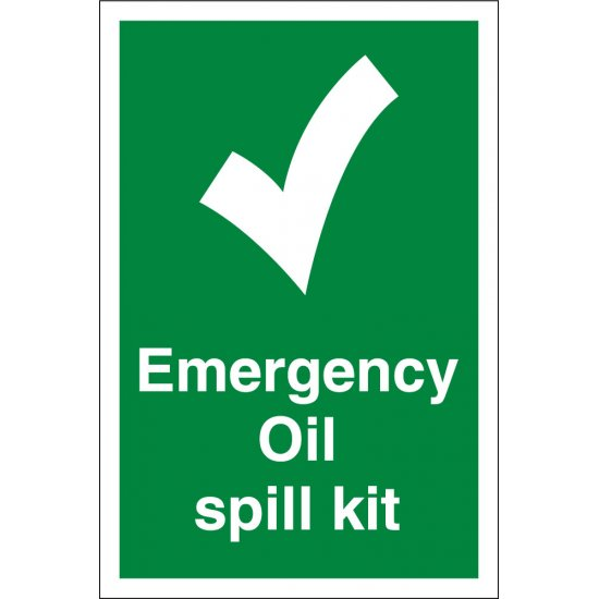 Emergency Oil Spill Kit Signs