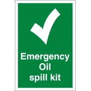 Emergency Oil Spill Kit Signs