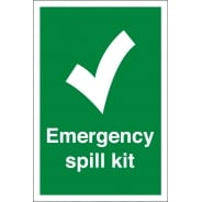 Emergency Spill Kit Signs