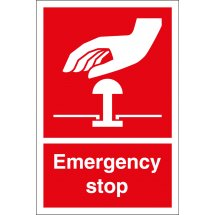 Emergency Stop Safety Signs