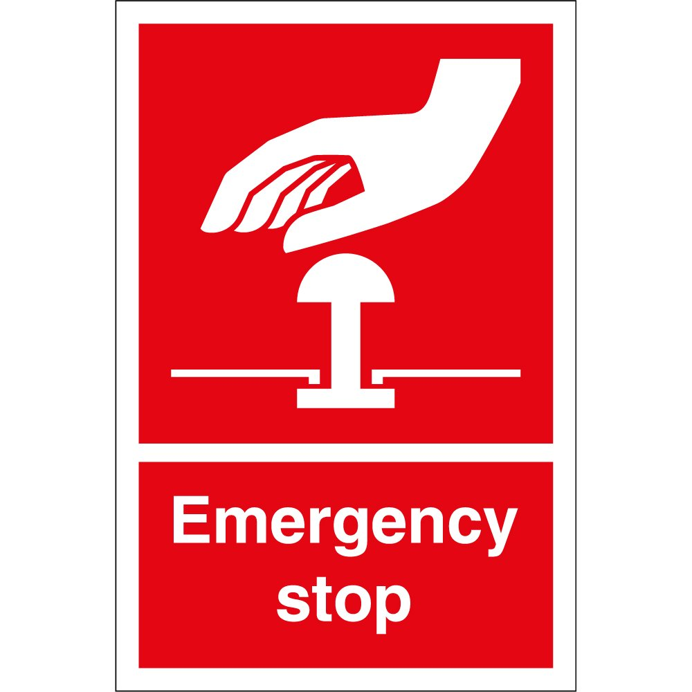 Emergency stop safety signs from key signs uk emergency stop safety signs buycottarizona Images