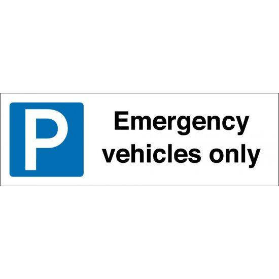 Emergency Vehicles Only Parking Signs