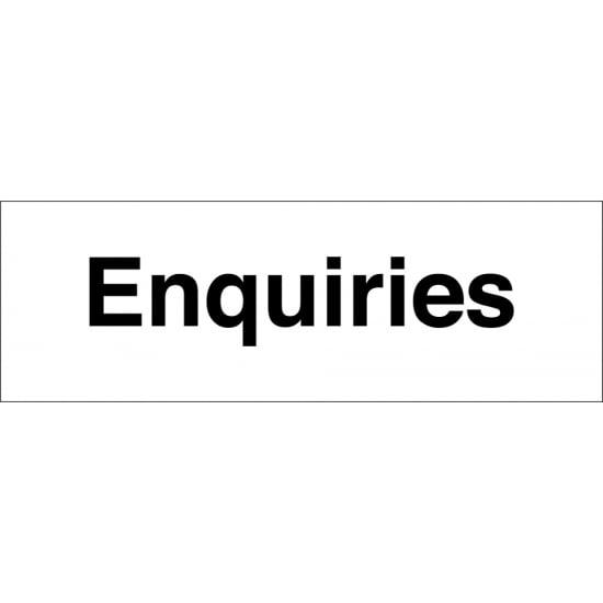 Enquiries Signs
