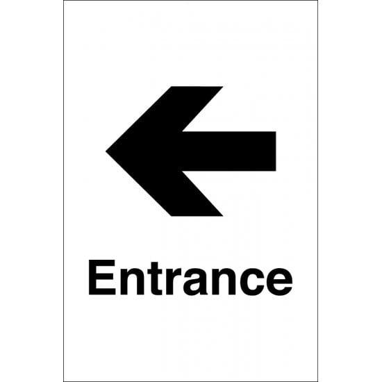 Entrance Arrow Left Signs
