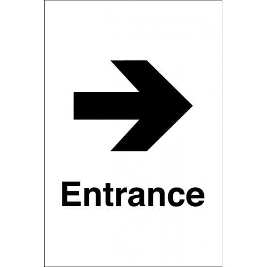 Entrance Arrow Right Signs
