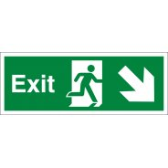 Exit Arrow Down Right Signs