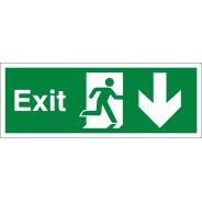 Exit Arrow Down Signs