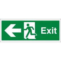 Exit Arrow Left Signs