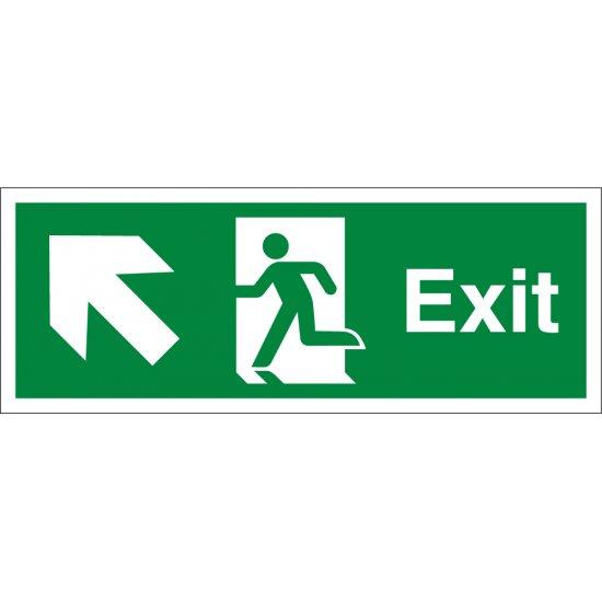 Exit Arrow Up Left Signs