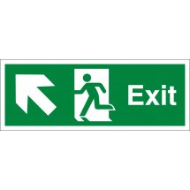 Exit Arrow Up Left Signs