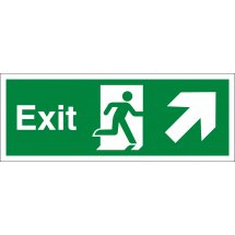 Exit Arrow Up Right Signs