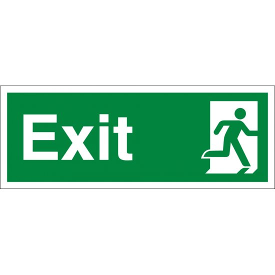 Exit Running Man Right Signs