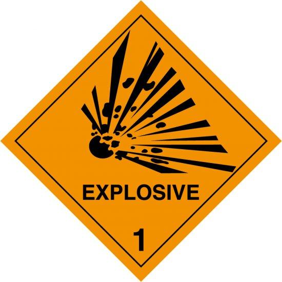 Explosive 1 Labels