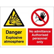 Explosive Atmosphere No Admittance Signs