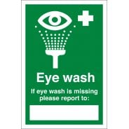 Eye Wash Missing Signs