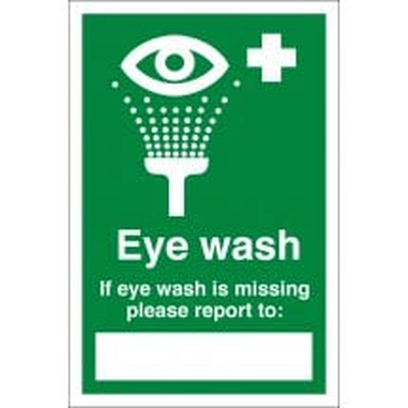 Eye Wash Missing Signs